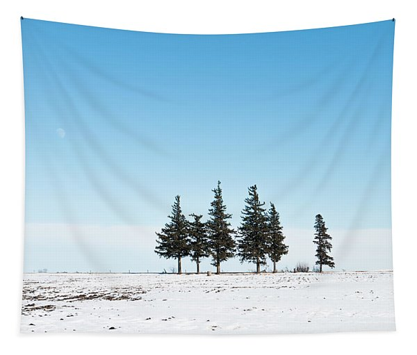 6 Pines And The Moon Tapestry