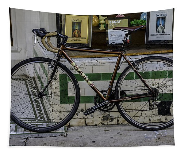 A Bicycle In The French Quarter, New Orleans, Louisiana Tapestry