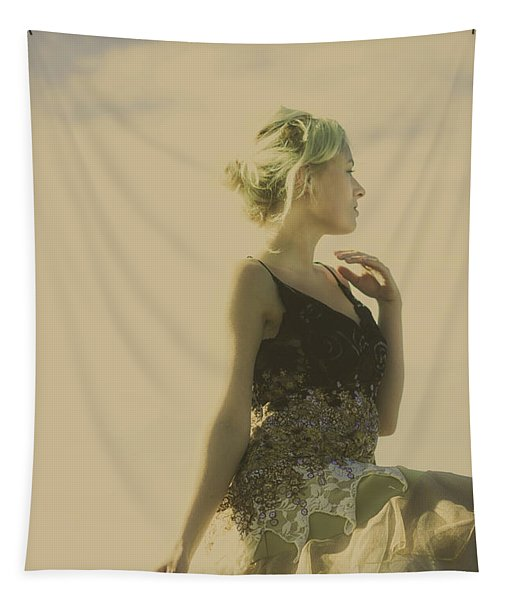 A Classical Beauty Portrait Tapestry