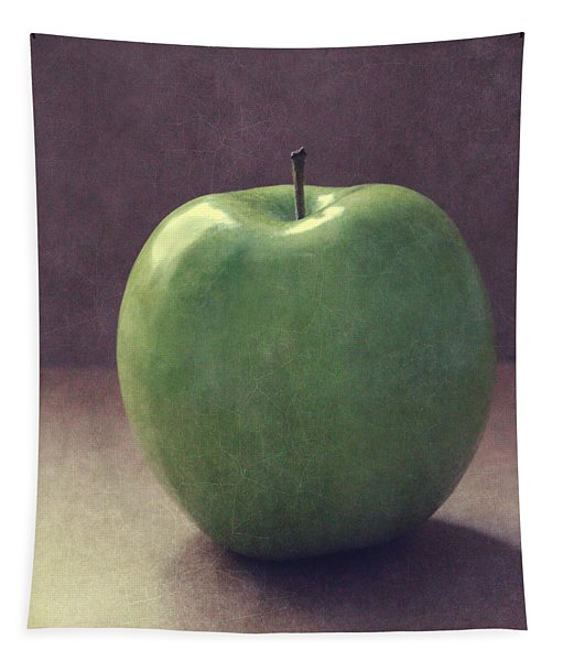 A Green Apple- Art By Linda Woods Tapestry