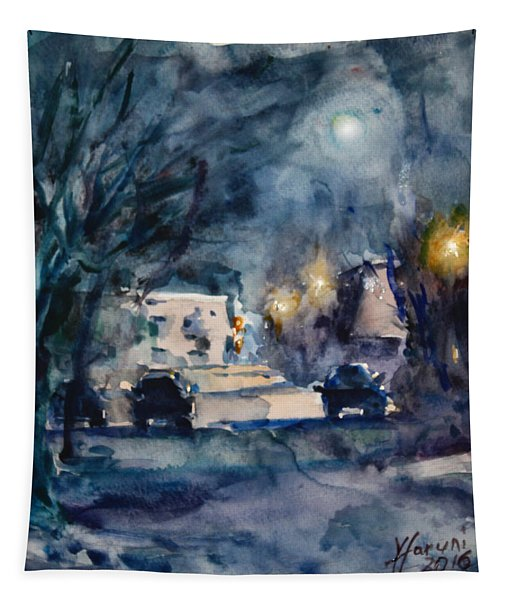 A Quiet Cold Night Under The Moon Tapestry