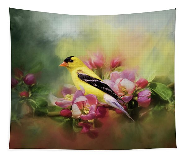 A Splash Of Joy Bird Art Tapestry