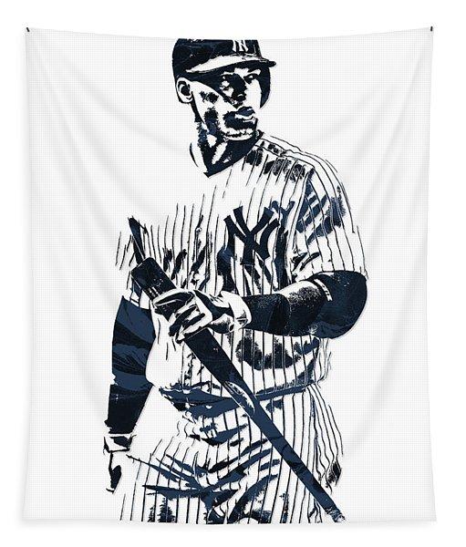 Aaron Judge New York Yankees Pixel Art 12 Tapestry