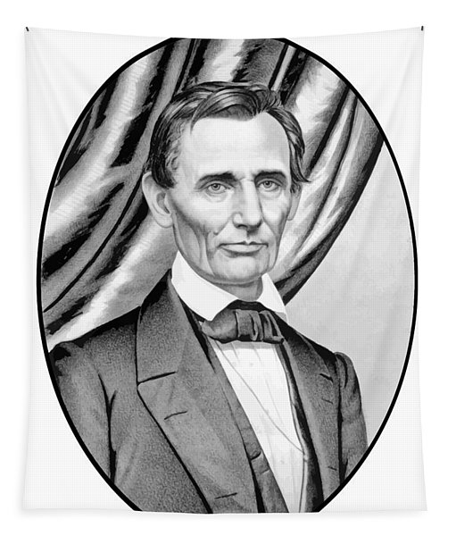 Abraham Lincoln Circa 1860 Tapestry
