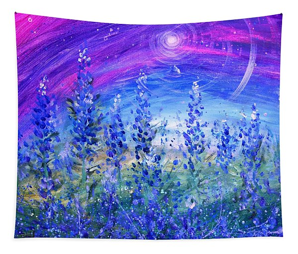 Abstract Bluebonnets Tapestry