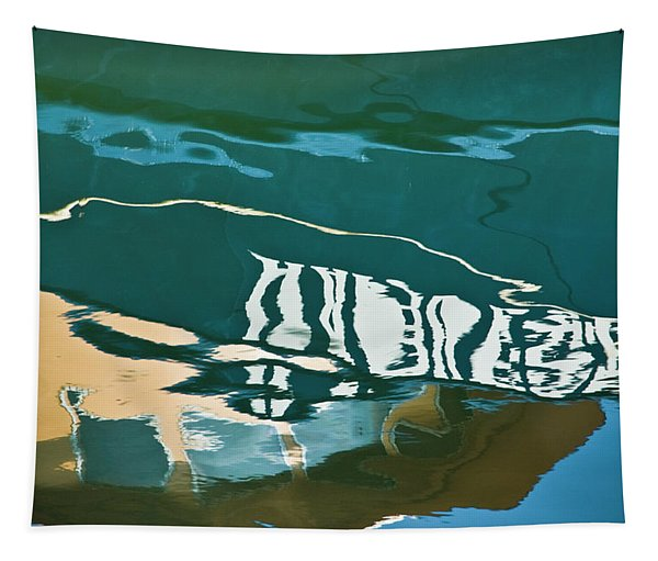 Abstract Boat Reflection Tapestry