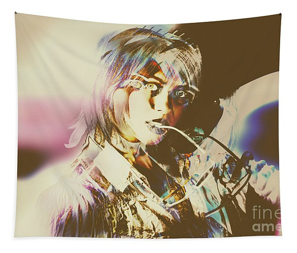 Abstract Fashion Pop Art Tapestry