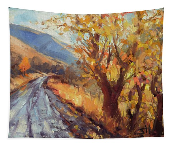 After An Autumn Rain Tapestry