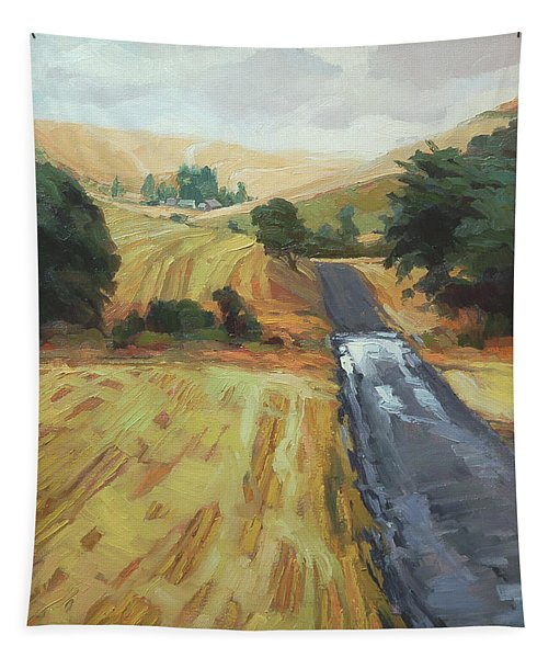 After The Harvest Rain Tapestry