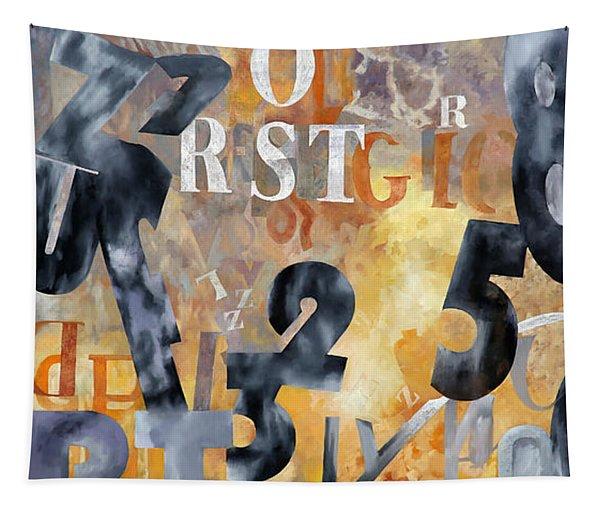 Alfabeto Giallo Nero Tapestry
