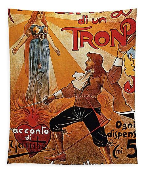 Alla Conquista Di Un Trono - Swordsman - Vintage Advertising Poster Tapestry