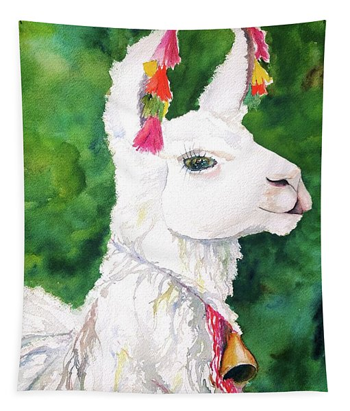 Alpaca With Attitude Tapestry