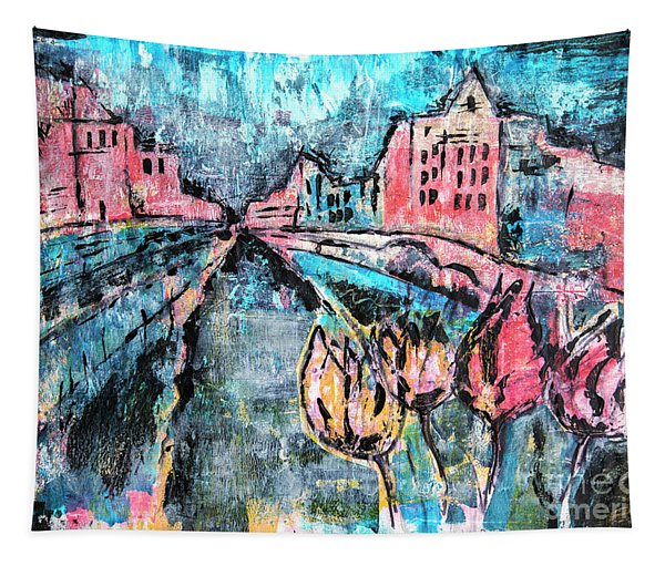 Amsterdam By Acrylic Painting Tapestry