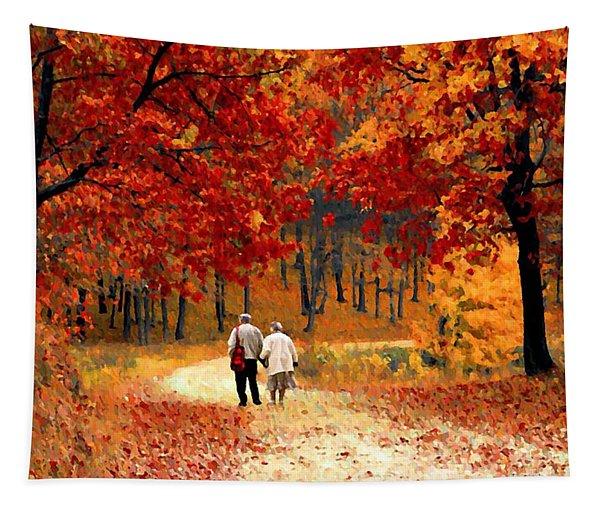 An Autumn Walk Tapestry