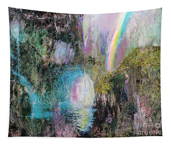 Antique Landscape With Rainbow Tapestry