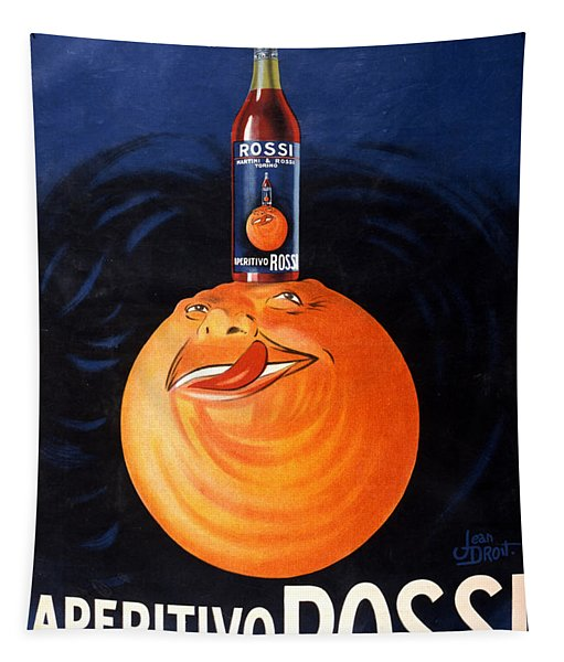 Aperitivo Rossi - Alcoholic Beverages - Vintage Advertising Poster Tapestry