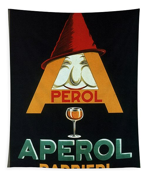 Aperol Barbieri - Cocktail Food And Drink Poster - Vintage Advertising Poster Tapestry