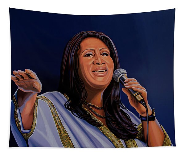Aretha Franklin Painting Tapestry