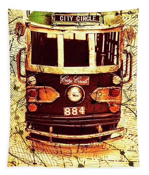 Australia Travel Tram Map Tapestry