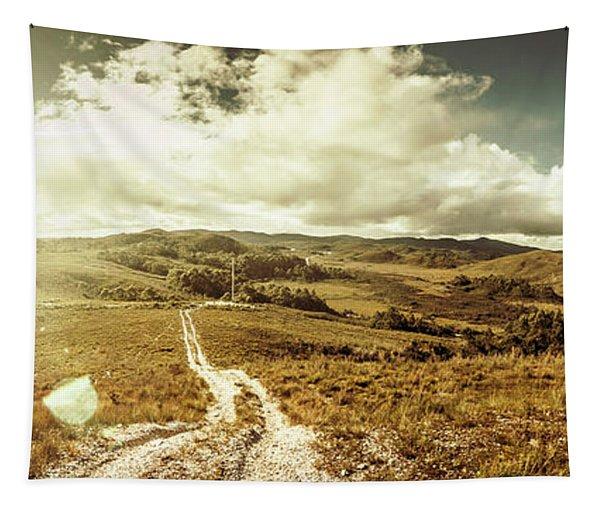 Australian Rural Panoramic Landscape Tapestry