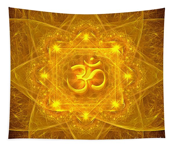 Authentic Om  Tapestry