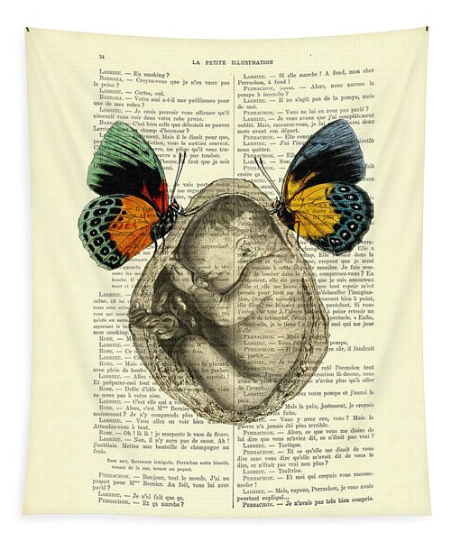 Baby Foetus And Butterflies Tapestry
