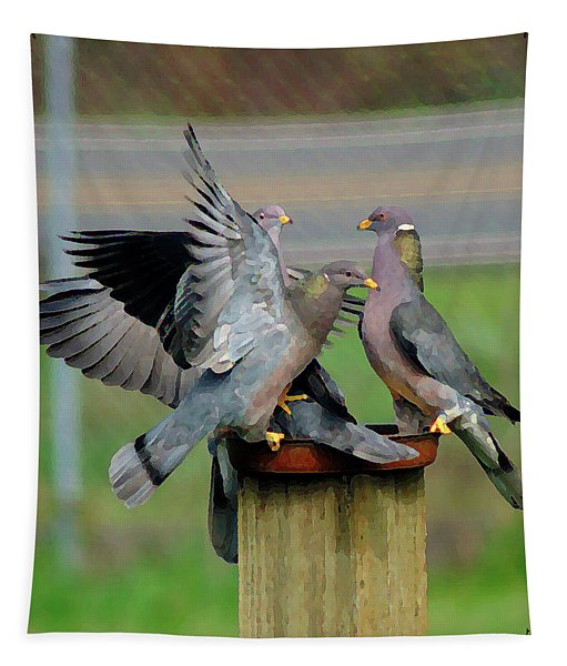 Band-tailed Pigeons #1 Tapestry
