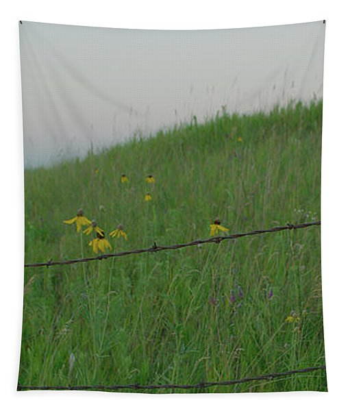 Barb Wire Prairie Tapestry