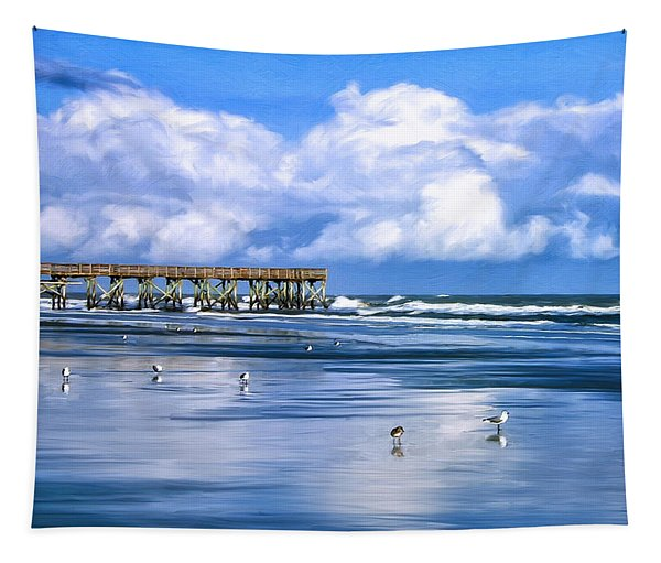 Beach At Isle Of Palms Tapestry