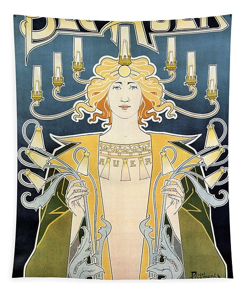 Bec Auer - Art Nouveau - Vintage Advertising Poster Tapestry