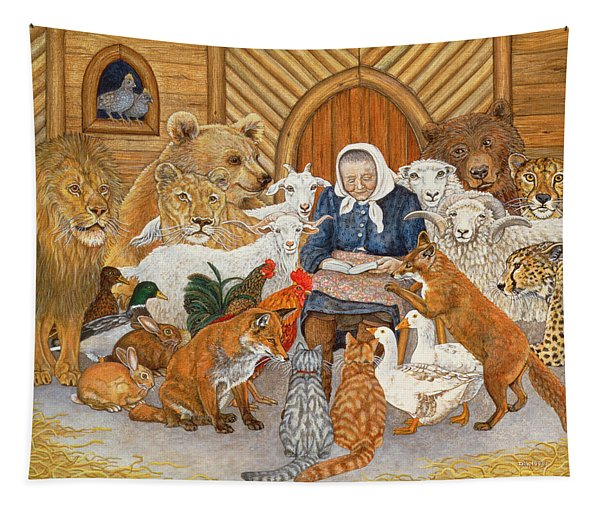 Bedtime Story On The Ark Tapestry