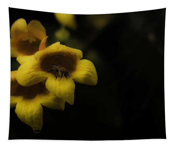 Bee In A Trumpet Tapestry