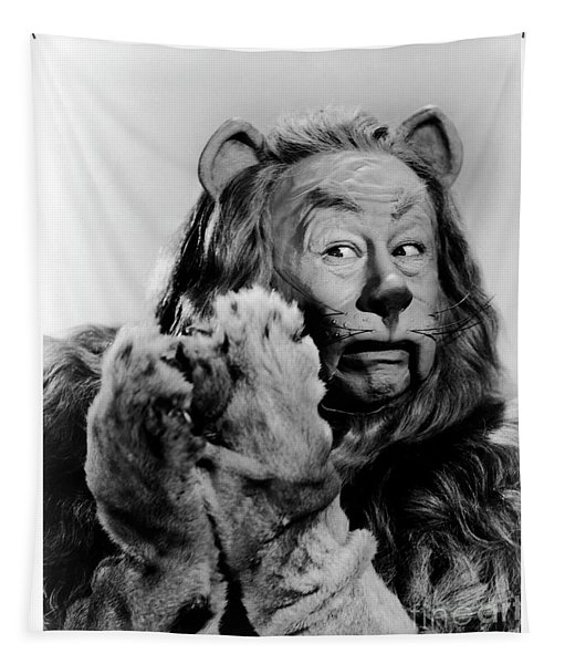 Cowardly Lion In The Wizard Of Oz Tapestry