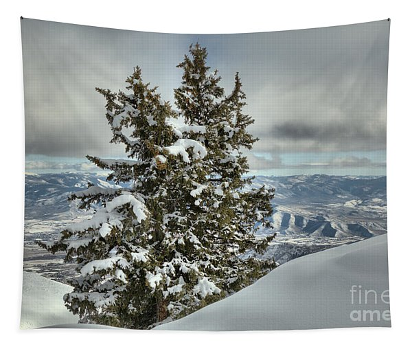 Between Mountains And Snow Drifts Tapestry