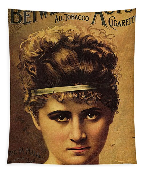 Between The Acts - All Tobacco Cigarettes - Vintage Advertising Poster Tapestry