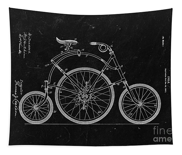 Bicycle From 1899 - Black Tapestry