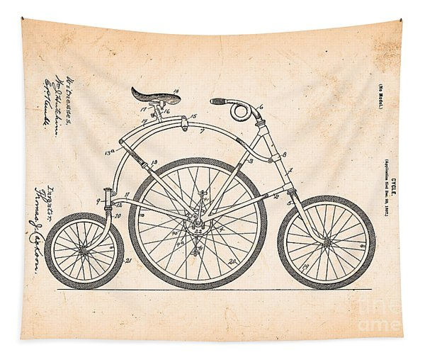 Bicycle From 1899 Tapestry