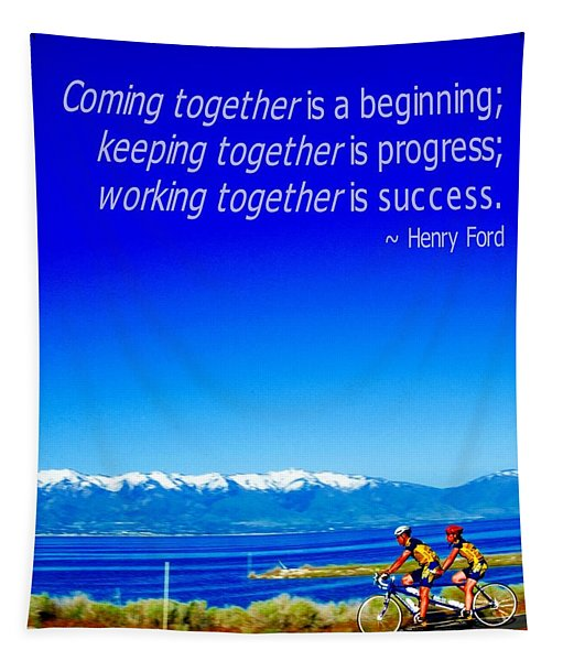 Bicycle Henry Ford Quote Tapestry