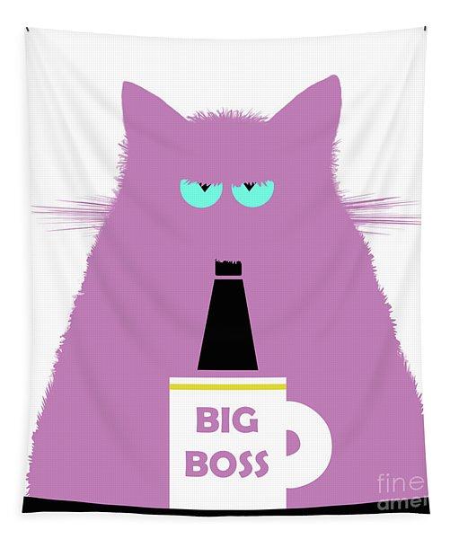 Big Boss Lilac Cat Tapestry