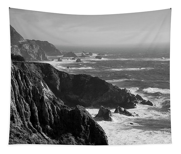 Big Sur Coast Bw  Tapestry