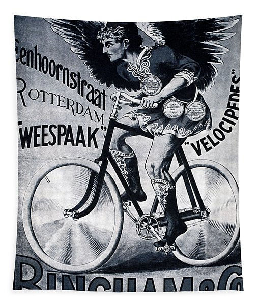 Bingham And Co - Bicycle - Vintage Dutch Advertising Poster Tapestry