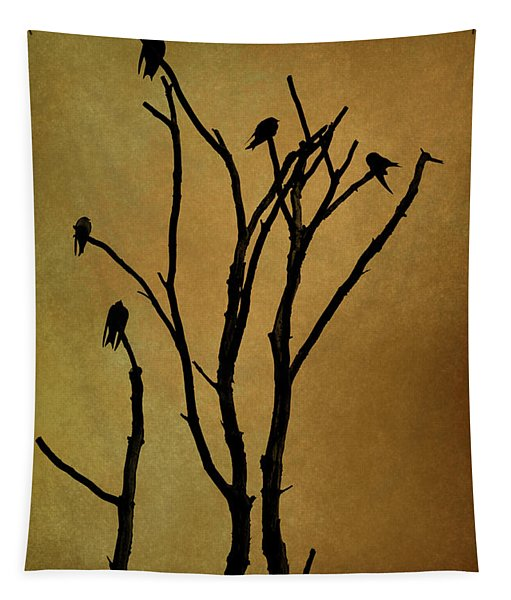 Birds In Tree Tapestry