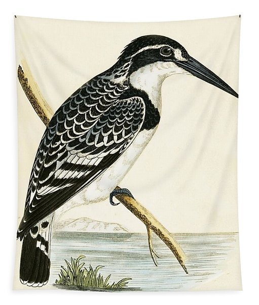 Black And White Kingfisher Tapestry