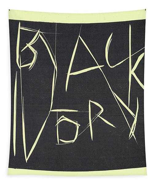 Black Ivory Title Page Tapestry