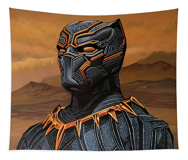 Black Panther Painting Tapestry
