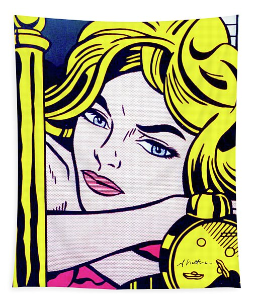 Blonde Waiting -1964 - Pop Art  Tapestry