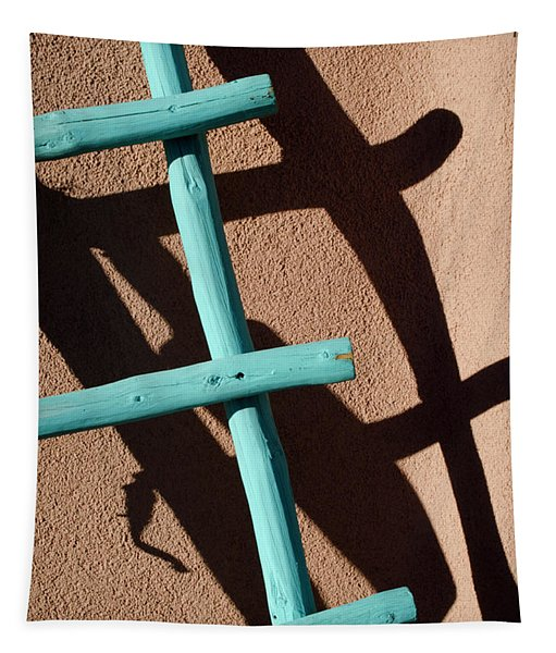 Blue Ladder And Shadow Tapestry by David Gordon