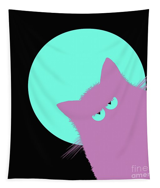 Blue Moon Lilac Cat Tapestry