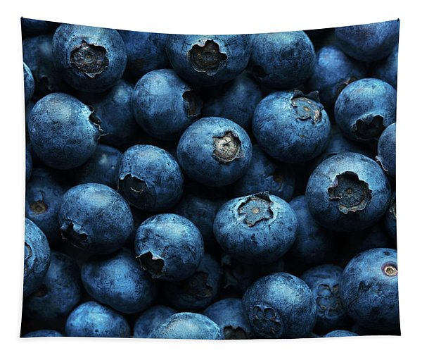 Blueberries Background Close-up Tapestry