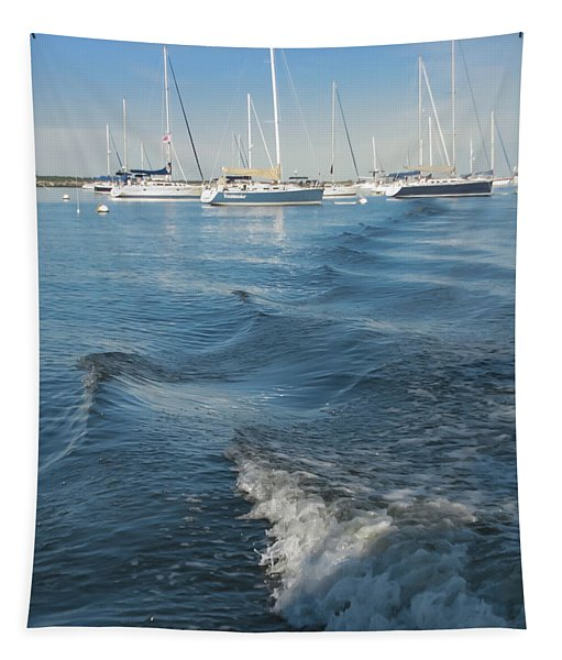 Boats And Waves Tapestry